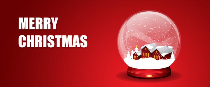 Christmas Snow Globe Greeting Card 1014