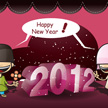 Happy New Year 2012 Illustration 1024