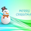 Snowman Christmas Greeting Card 1013