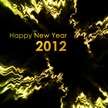 New Year 2012 Goldenrod Green Abstract Wallpaper 1025