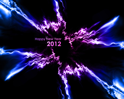 New Year 2012 Violet Blue Abstract Wallpaper 1028